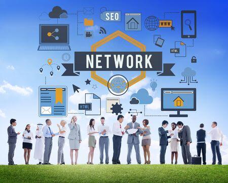 diversity domain: Online Network Internet Connection Digital Concept