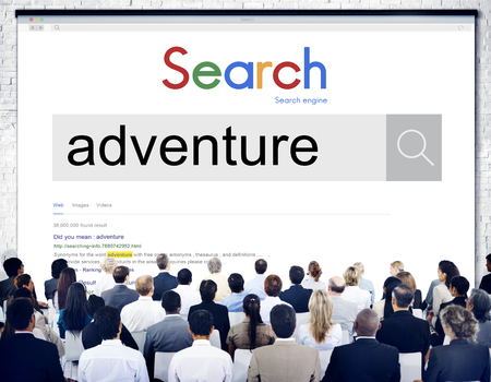 Audience with online search for adventure concept