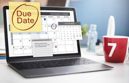 important notice: Due Date Deadline Payment Bill Important Notice Concept