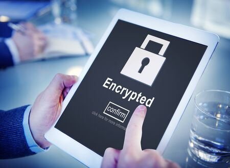 online privacy: Data Privacy Encrypted Online Security Protection Concept