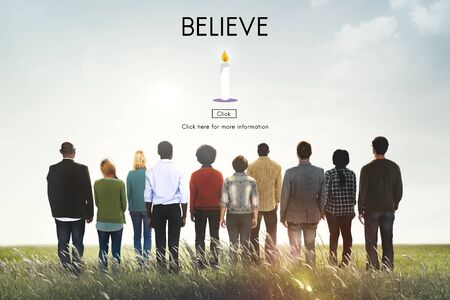 trustworthy: Believe Faith Trust Loyalty Mindset Trustworthy Concept