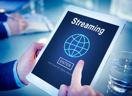 streaming: Streaming Data Internet Homepage Links Concept