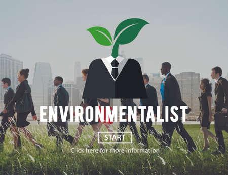 rush hour: Environmental Friendly Business Suit Concept Stock Photo