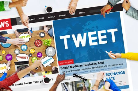 tweet: Tweet Global Communication Connection Social Networking Concept