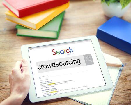 crowdsource: Crowdsourcing Collaboration Community Group Concept