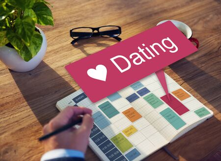 place to learn: Dating Relationship Lovers Lifestyle Love Concept Stock Photo