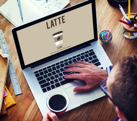 froth: Latte Coffee Milk Foam Froth Caffeine Beverage Concept Stock Photo