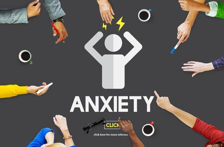 Anxiety Angst Disorder Stress Tension Concept Stock Photo