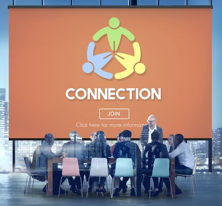join: Connect Connection ConnectingConnected Join Concept