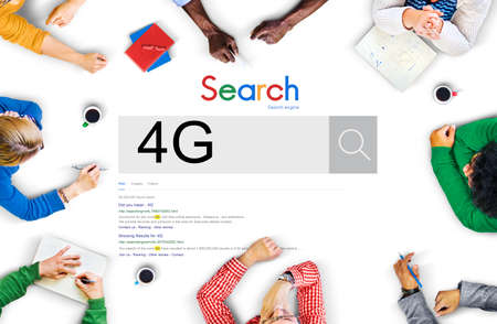 discover: 4G Technology Word Searching Discover Concept Stock Photo