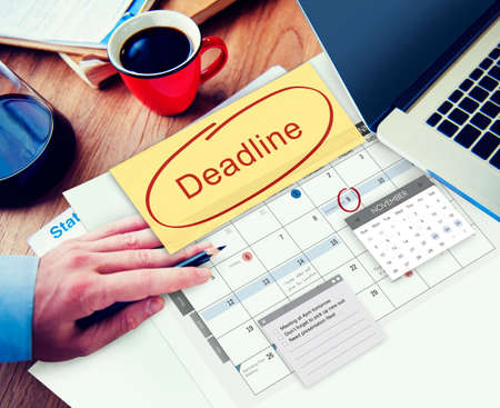 place to learn: Deadline Due Date Appointment Schedule To Do Concept