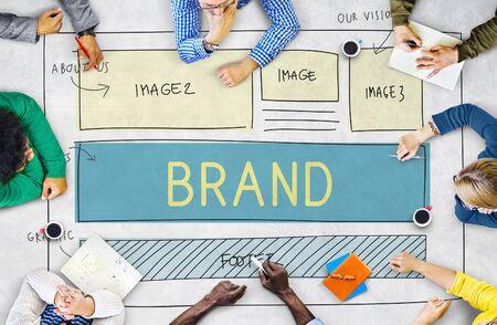 website plan: Brand Trademark Marketing Website Plan UI Concept