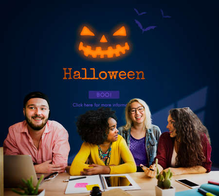 pranks: Jack O Lantern Halloween Symbol Concept Stock Photo