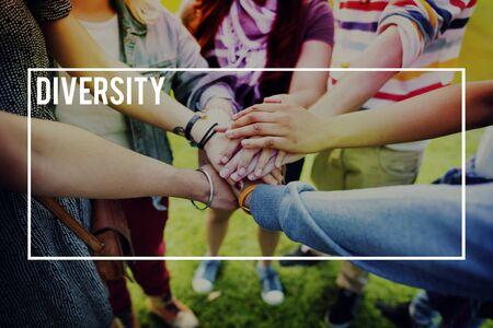 racial: Diversity Multi Racial Community People Concept