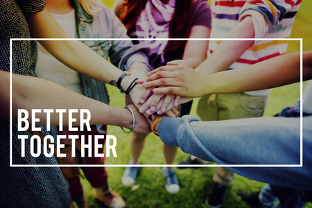 better: Better Together Unity Friends Togetherness Concept Stock Photo