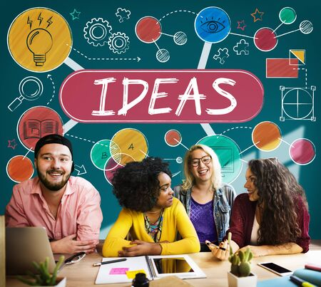 friend chart: Ideas Mission Imagination Icons Vision Concept
