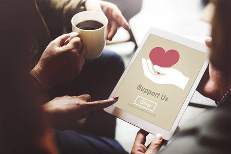 organ donation: Support us Welfare Volunteer Donations Concept