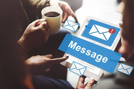information point: Message Email Information Letter Report Signal Concept Stock Photo