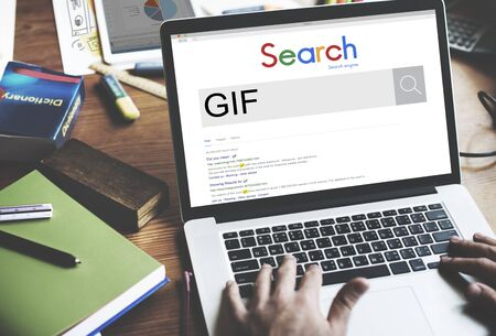 format: GIF Animated Images Graphics Interchange Format Concept Stock Photo