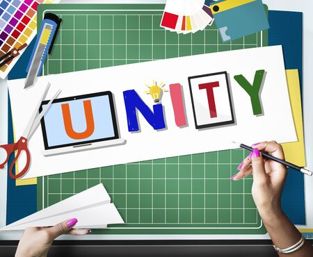 homogeneity: Unity Togetherness Team Union Support Concept Stock Photo