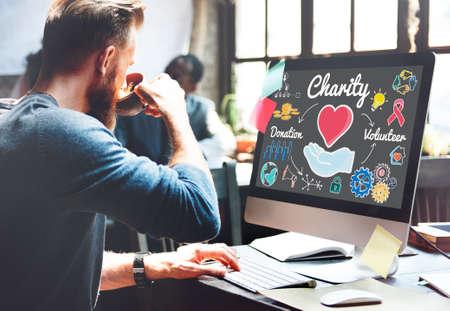Charity Donate Welfare Generosity Charitable Giving Concept