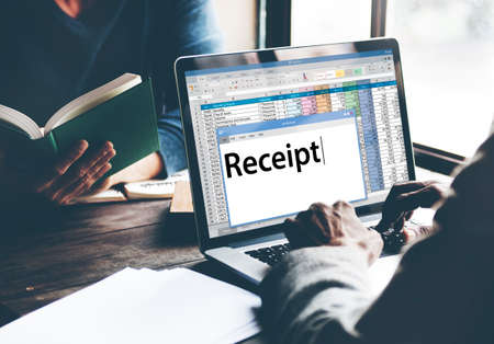spend: Receipt Receipts Cost Expenses Financial Spend Concept