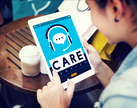 attend: Care Service Welfare Help Attend Concept