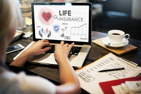 Life Insurance Protection Begunstigde Safeguard Concept Stockfoto - 56709569