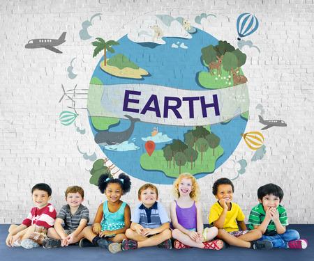 지구 생태 환경 보전 글로브 개념