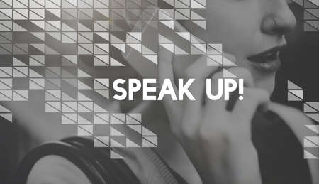 speak out: Speak Voice Out Express Yourself Concept