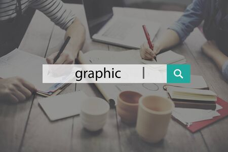 artisan: Graphic illustration Creative Visual Digital Art Concept Stock Photo