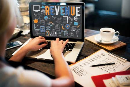 revenue: Revenue Profit Sales Savings Concept Stock Photo