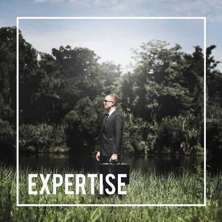 skilled: Expertise Expert Skilled Intelligence Concept