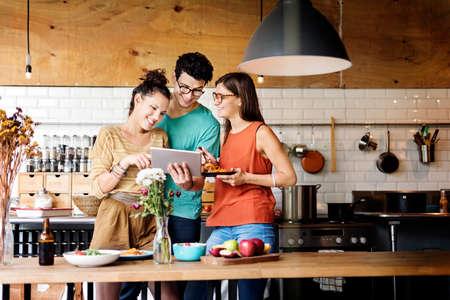 bistro: Bistro Brunch Casual Cheerful Kitchen Together Concept Stock Photo