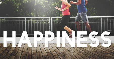 positivity: Happiness Joyful Positivity Lifestyle Leisure Concept Stock Photo