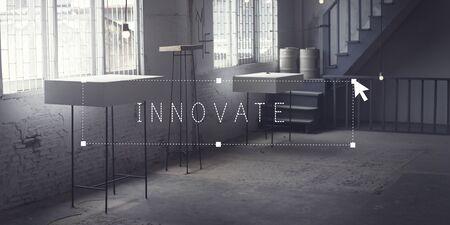 Innover Concept Technology Innovation Design Studio Banque d'images