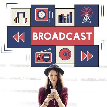 boardcast: Broadcast Communicate Music Icon Connection Concept