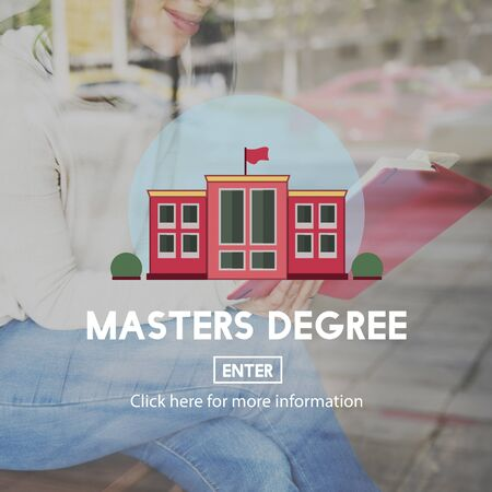 master: Academic Education Master Degree Study Concept