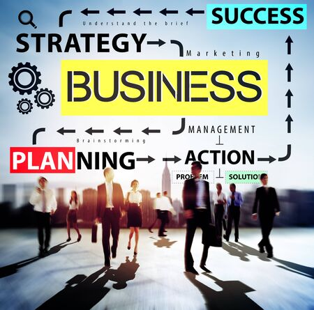 commuting: Business Planning Strategy Success Action Concept