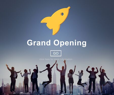 job opening: Grand Opening Rocket Icon Concept