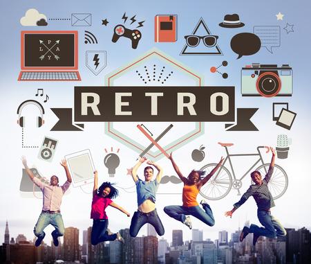retrospect: Retro Vintage Classic Old School Lifestyle Retrospect Concept Stock Photo
