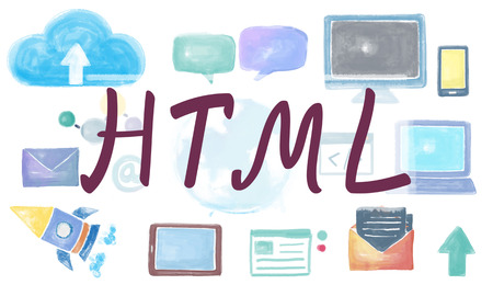 html: Domain Homepage HTML Links Global Connection Concept
