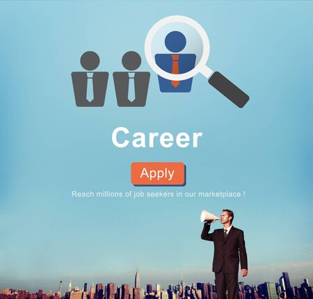expertise concept: Career Expertise Hiring Professional Occupation Concept Stock Photo