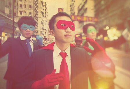 ethnicity: Chinese Ethnicity Business Superheroes Concept