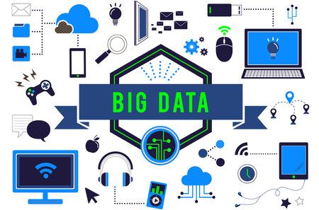 computer network: Big Data Computer Network Technology Concept