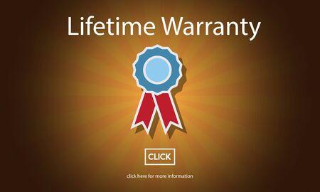 quality service: Lifetime Warranty Guarantee Assurance Quality Service Concept Stock Photo