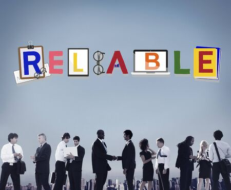 trusting: Reliable Trustworthy Dependable Responsible Respectable Concept