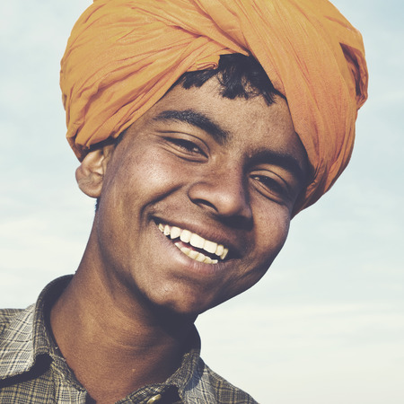 indigenous culture: Indigenous Indian Asian Boy Casual Culture Joy Concept