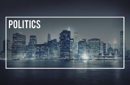conflict theory: Politics Political Government Confilct Nation Concept Stock Photo
