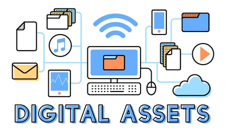accessible: Digital Assets Accessible Unlock Information Concept Stock Photo